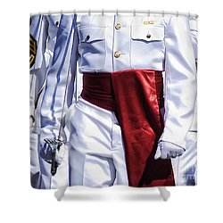 Marching Mardi Gras Marines Shower Curtain by Kathleen K Parker