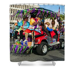 Mardi Gras Clowning Shower Curtain by Steve Harrington