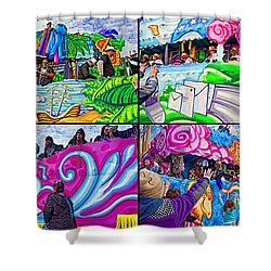 Mardi Gras Fun Shower Curtain by Steve Harrington