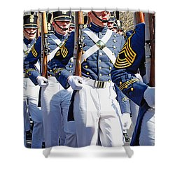 Mardi Gras Marching Soldiers Shower Curtain by Kathleen K Parker