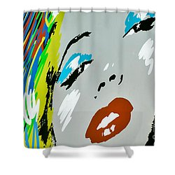 Marilyn Monroe Shower Curtain by Micah May