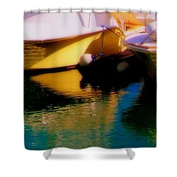 Marina Rainbow Shower Curtain by Karen Wiles