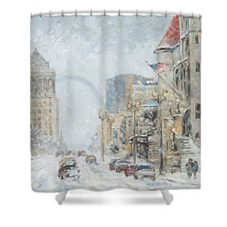 Market Street In Winter In St.louis Shower Curtain