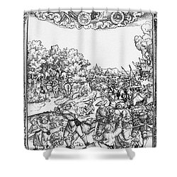 Mars, Roman God Of War Shower Curtain by Photo Researchers