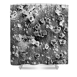 Martian Carbon Dioxide Crystals Shower Curtain by National Snow and Ice Data Center