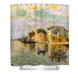 Martigues In The South Of France Shower Curtain by Gustave Loiseau