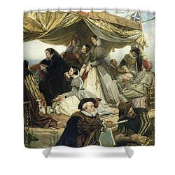 Mary Stuart's Farewell To France Shower Curtain by Henry Nelson O Neil