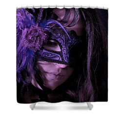 Mask Shower Curtain by Joana Kruse