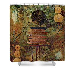 Maskerade Shower Curtain by Aimelle