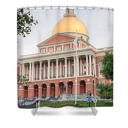 Massachusetts State House I Shower Curtain by Clarence Holmes