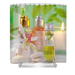Massage Spa Concepts Shower Curtain by Atiketta Sangasaeng