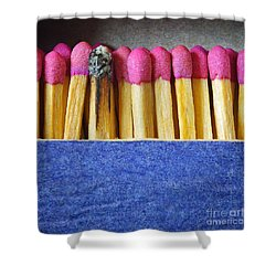 Matchbox Shower Curtain by Carlos Caetano