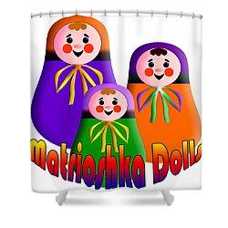 Matrioshka Dolls Shower Curtain by Zaira Dzhaubaeva