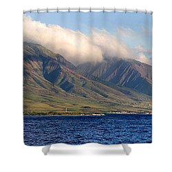 Maui Pano Shower Curtain by Scott Pellegrin