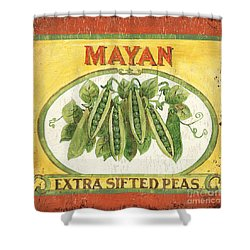 Mayan Peas Shower Curtain by Debbie DeWitt