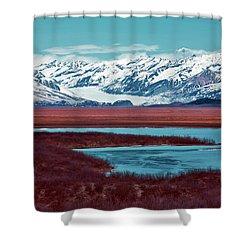 Mclaren Glacier Shower Curtain by Rick Berk