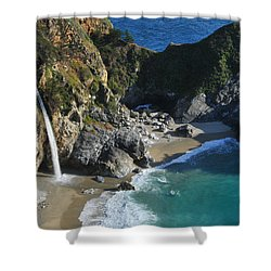 Shower Curtain featuring the photograph Mcway Falls by Lynn Bauer