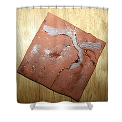 Me - Tile Shower Curtain by Gloria Ssali