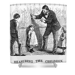 Measuring Children, 1876 Shower Curtain by Granger