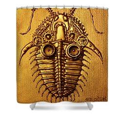 Mecha-trilobite 3 Shower Curtain by Baron Dixon