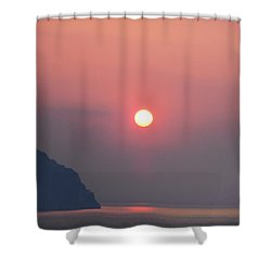 Medaterainian Sunset Shower Curtain by Bill Cannon