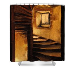 Medieval Tower Shower Curtain by Mona Edulesco