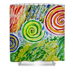 Shower Curtain featuring the painting Meditation by Sonali Gangane