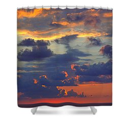 Mediterranean Sky Shower Curtain