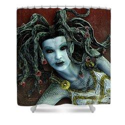 Medusa Shower Curtain by Jutta Maria Pusl