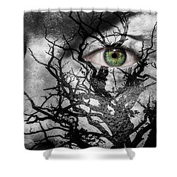 Medusa Tree Shower Curtain by Semmick Photo