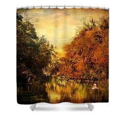 Meeting Of The Seasons Shower Curtain by Jai Johnson