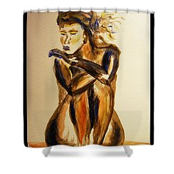 Melancholy Shower Curtain by Angela Murray