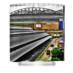 Shower Curtain featuring the photograph Melbourne Docklands by Blair Stuart