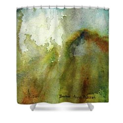 Shower Curtain featuring the painting Melting Mountain by Anna Ruzsan