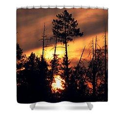 Melting Skies Shower Curtain