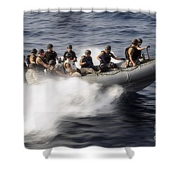 Members Of A Visit, Board, Search Shower Curtain by Stocktrek Images