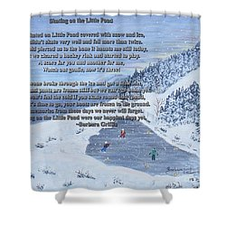 Memories Of A Little Pond Shower Curtain by Barbara Griffin