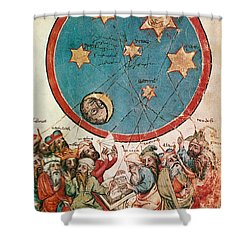 Men & Their Guiding Stars Shower Curtain by Science Source