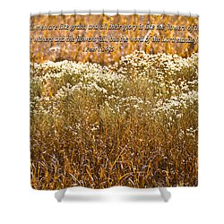 Men Are Like Grass Shower Curtain by Carolyn Marshall