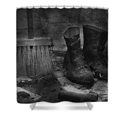 Men At Work Shower Curtain by Jerry Cordeiro