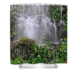 Mendenhall Glacier Flooding Waterfall Juneau Alaska 1542 Shower Curtain