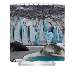 Mendenhall Glacier Juneau Alaska 1698 Shower Curtain