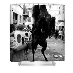 Shower Curtain featuring the photograph Menorca Horse 3 by Pedro Cardona