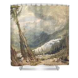 Mere De Glace - In The Valley Of Chamouni Shower Curtain by Joseph Mallord William Turner