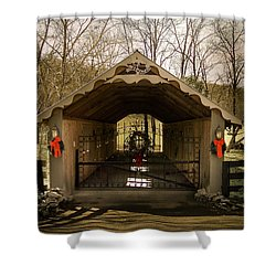 Merry Christmas From Tennessee Shower Curtain by Trish Tritz