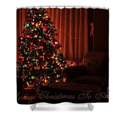 Merry Christmas To All Christmas Card Shower Curtain