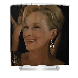 Meryl Streep Portrait  Shower Curtain