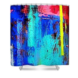 Shower Curtain featuring the painting Mesa by Carolyn Repka