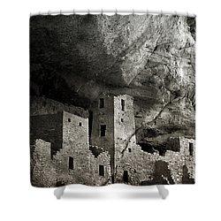 Mesa Verde - Monochrome Shower Curtain by Ellen Heaverlo
