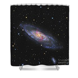 Messier 106, A Spiral Galaxy With An Shower Curtain by R Jay GaBany